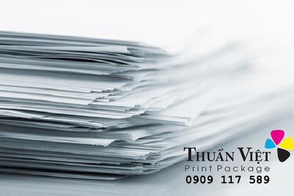 đặc tính kỹ thuật của giấy in offset