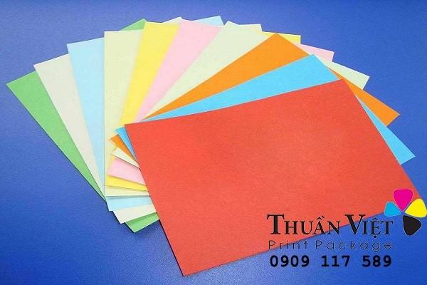 các loại giấy được dùng để in hộp giấy
